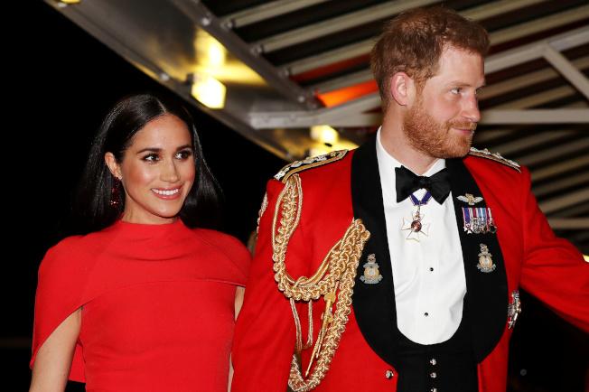 英國哈利王子和妻子梅根3月7日在倫敦參加蒙巴頓音樂節。(路透)