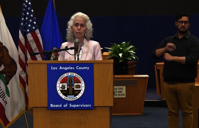 洛杉磯縣新冠肺炎確診病人總數超過3000人。(截圖自洛縣政府臉書)