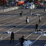 〈圖輯〉賭城收容遊民 停車場畫格子 每個相距六呎