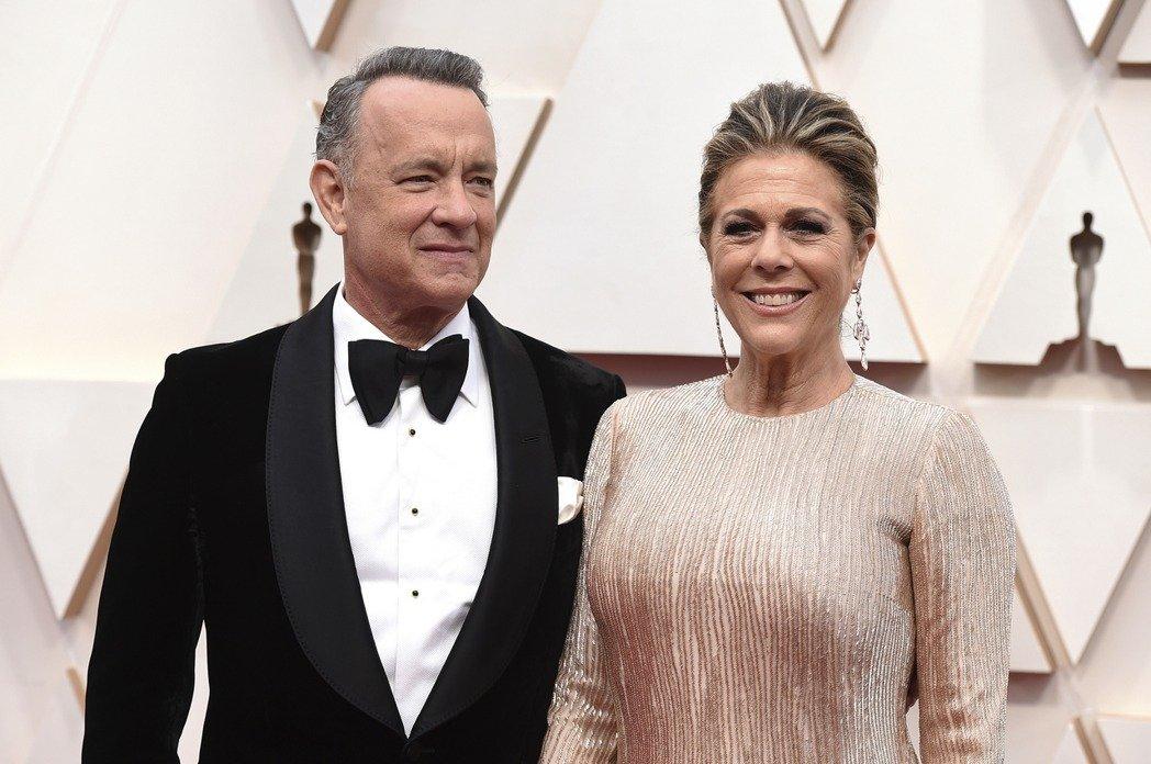 湯姆漢克斯與太太確診感染新冠肺炎。 圖/美聯社