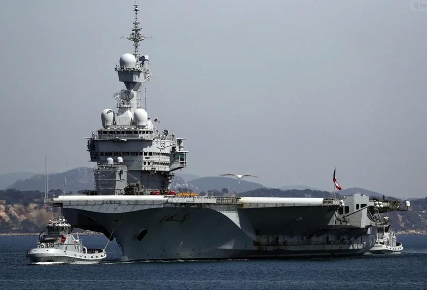 法國航空母艦戴高樂號傳出眾多新冠肺炎感染案例。(Getty Images)