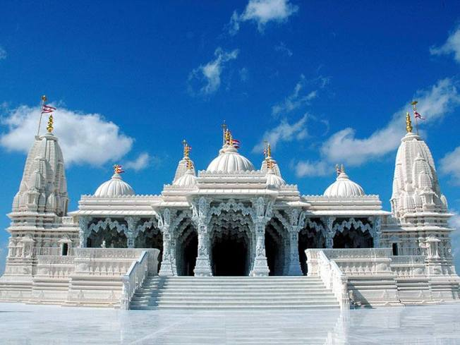 斯坦福市最大旅遊地標是「斯瓦米納拉揚印度神廟」。(廟方官網)