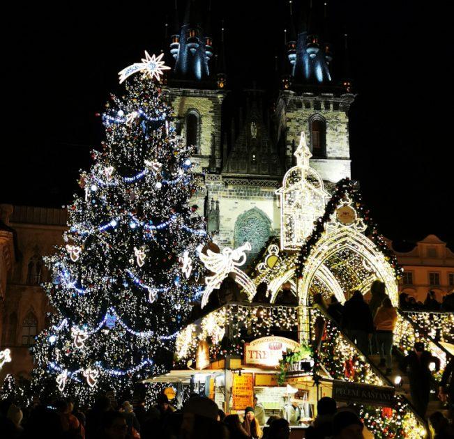 布拉格老城中心的耶誕市集。(圖:作者提供)