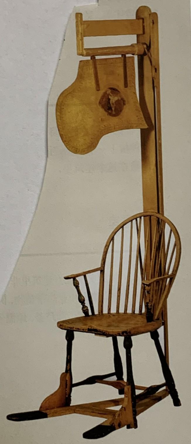 華盛頓製作的帶風扇木椅。 (圖:作者提供)