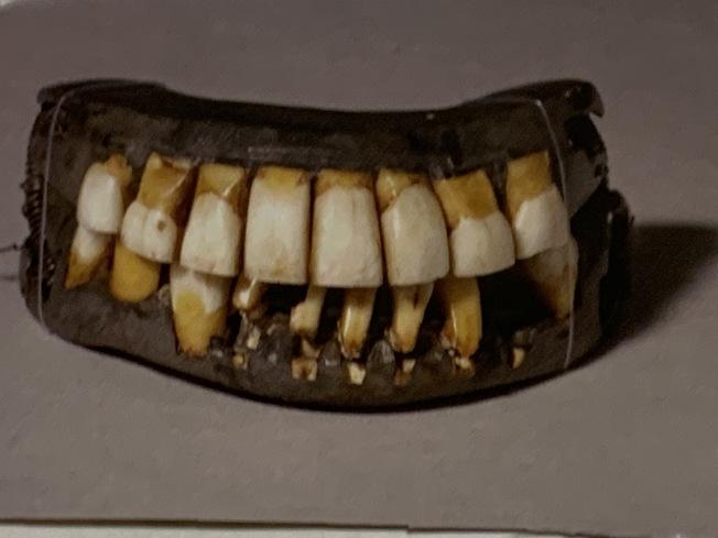 華盛頓的滿口假牙。 (圖:作者提供)