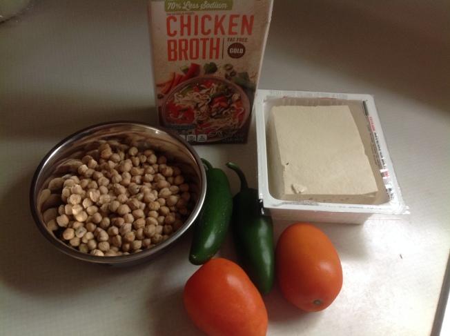鮮味雞湯鷹嘴豆材料