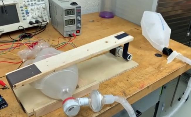 卡勒設計的原型機。(校方影音截圖)