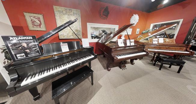 Cooper琴行各類鋼琴。(取自Cooper網站)