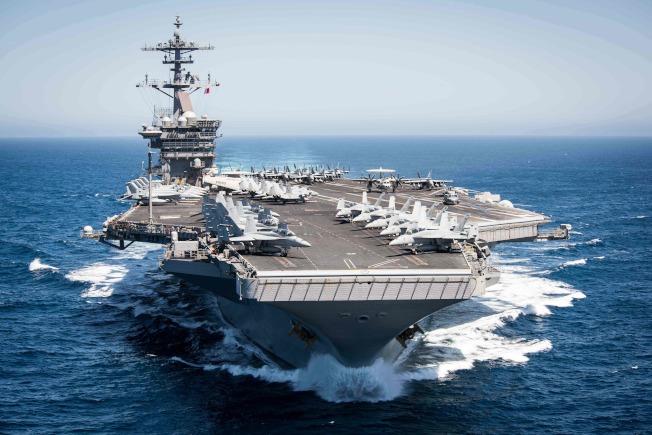 美國核動力航母羅斯福號船上官兵爆發嚴重感染。Getty Images