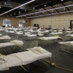 國民警衛隊完成搭建250張床位的聖馬刁方艙醫院