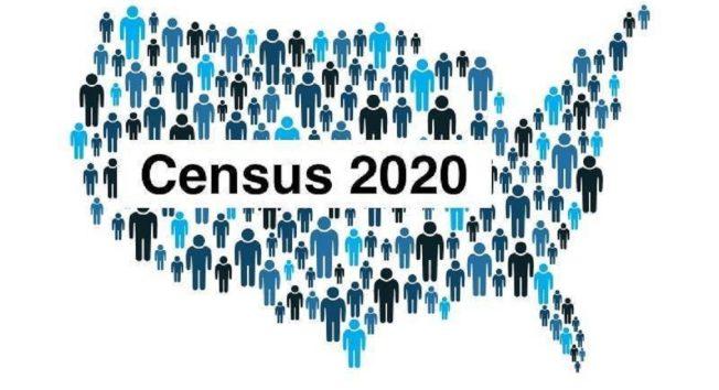 2020 年人口普查的宣導海報。(取材自網路)