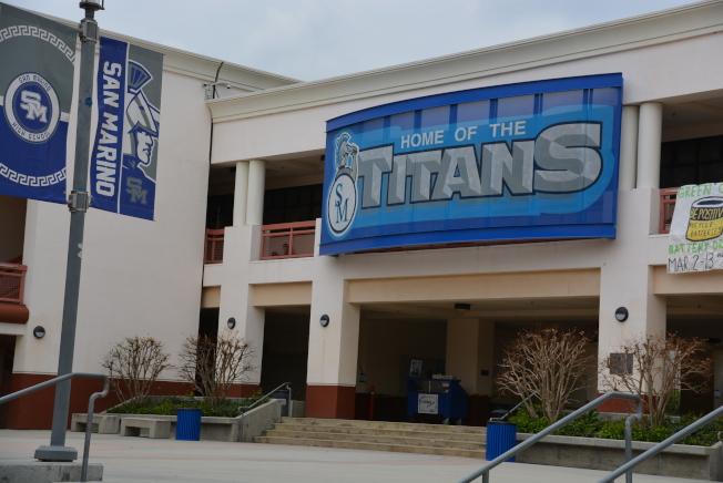 聖瑪利諾高中關校,夏季以前不會開放。(記者丁曙/攝影)