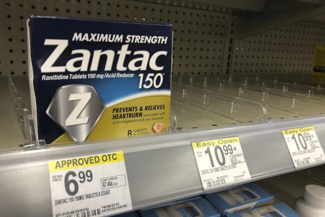 治療胃酸過多的雷尼替丁(ranitidine)劑如「善胃得」(Zantac)可能致癌,食品暨藥物管理局1日下令下架,並建議已購者立即丟棄。(美聯社)
