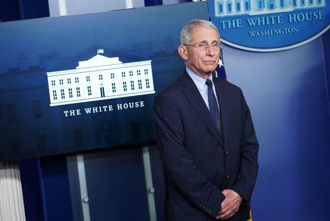 佛奇1日出席白宮例行疫情記者會。Getty Images