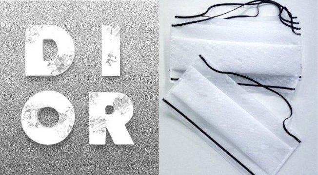 Dior加入抗疫行列,生產黑白極簡風黑白口罩。(取自Instagram)