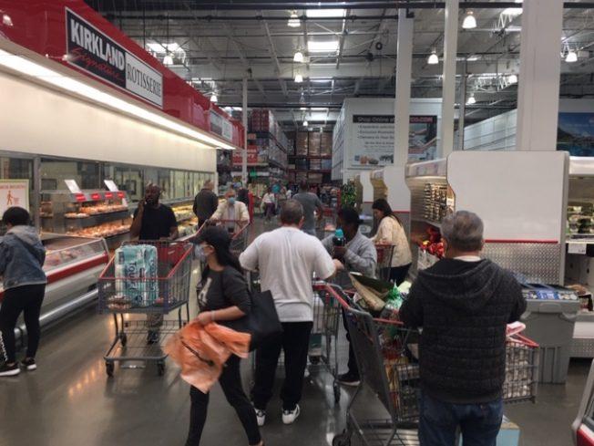 嚴防感染 超市賣場一級戒備