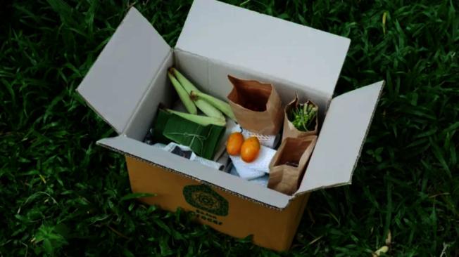 知名傳統泰式料理餐廳Bo.lan推出的支持社區的農業盒。擷自日經新聞