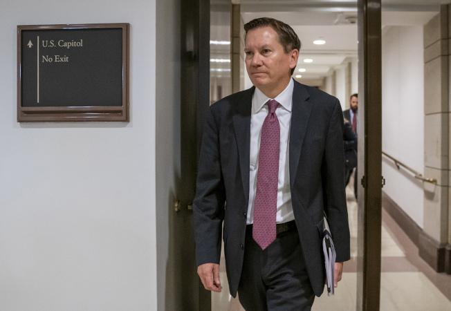 川普總統決定開除情報界督察長艾金森。圖為艾金森資料照片。(美聯社)