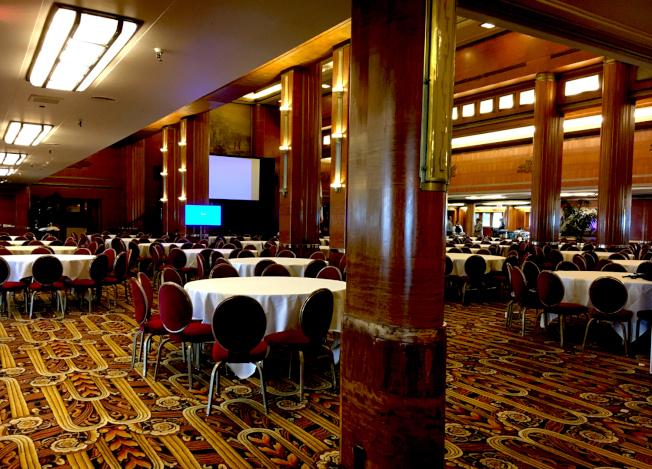 瑪麗皇后號遊輪內豪華的餐廳兼會議廳。(本報檔案照)
