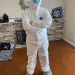 居家避疫/化學博士穿防護衣上超市