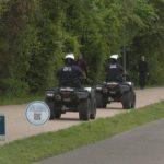 達拉斯拆公園籃球架 法警巡邏小徑