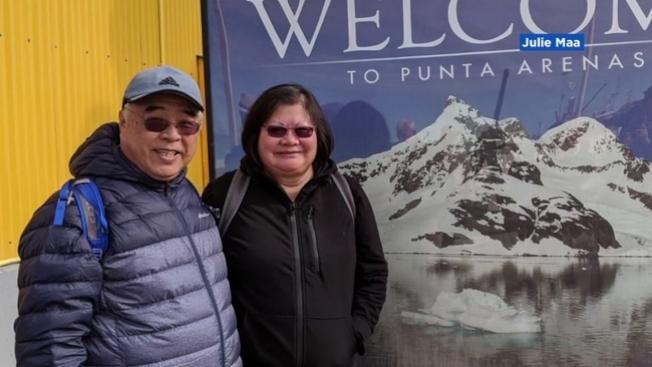 南舊金山居民馬先生(左)搭乘「珊瑚公主號」郵輪染疫身亡。(電視新聞截圖)