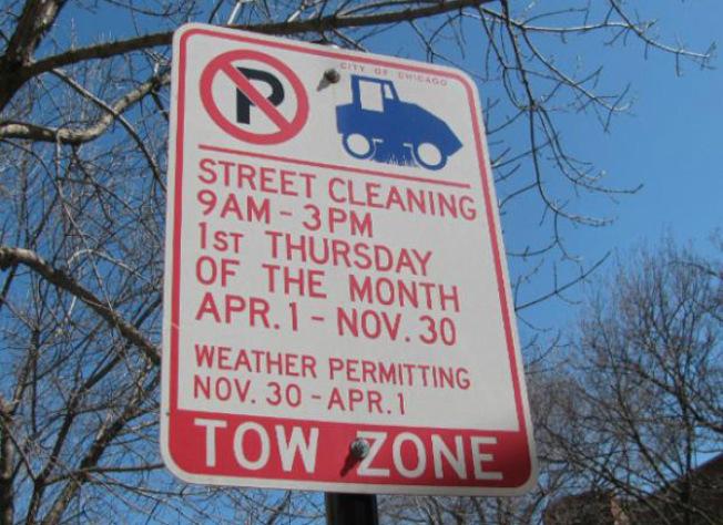 受疫情影響,違反芝加哥掃街日車輛禁停令的車主,將不用受罰。(本報檔案照片)