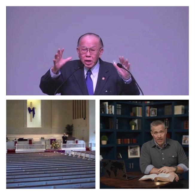 教會的主日崇拜改採視頻進行。(記者王明心/攝影)