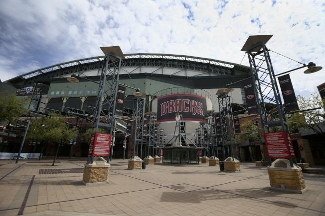 如果大聯盟球季真的能在亞利桑納舉行,響尾蛇隊的大通球場將扮演重要角色。(美聯社)