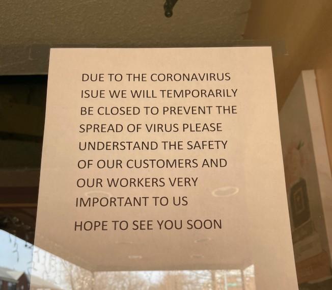 新冠疫情爆發後,紐約的很多餐廳不得不暫停營業。(記者朱蕾/攝影)