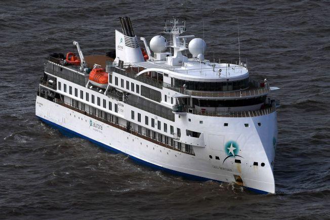 停靠在烏拉圭首都蒙德維多外海的「莫提默號」。(Getty Images)
