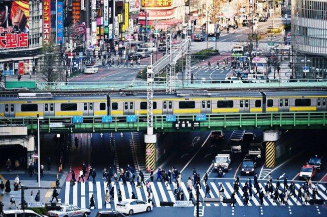 圖為東京新宿。 (Getty Images)