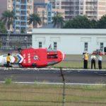 空勤直升機墜地5輕傷 油漏滿地幸未爆炸