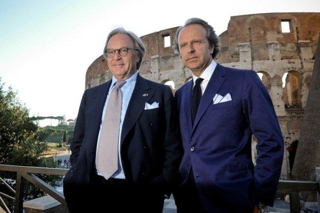 TOD'S集團總裁Diego Della Valle與副總裁Andrea Della Valle。圖/迪生提供