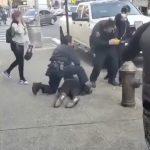 布朗士口罩男當街毆打執法警員 警持電擊槍猛追