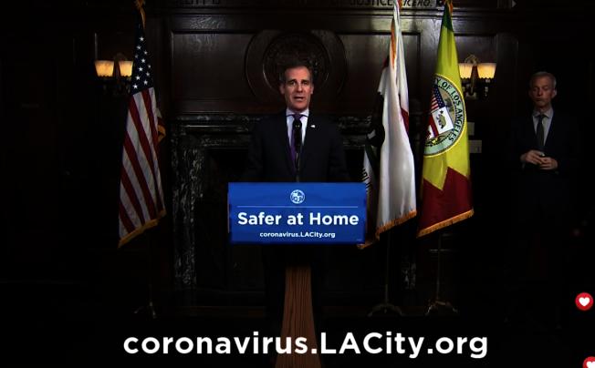 洛杉磯市長賈西提。(記者謝雨珊/攝影)