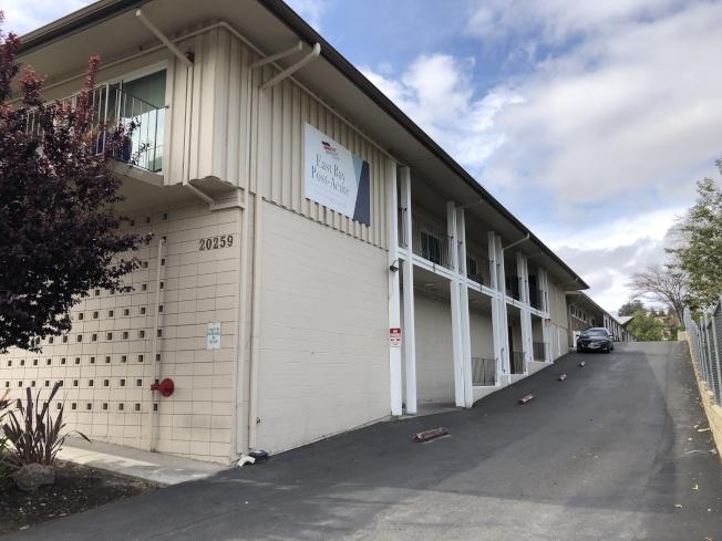 卡斯楚谷的East Bay Post-Acute Center ,有至少26人確診。(記者劉先進/攝影)
