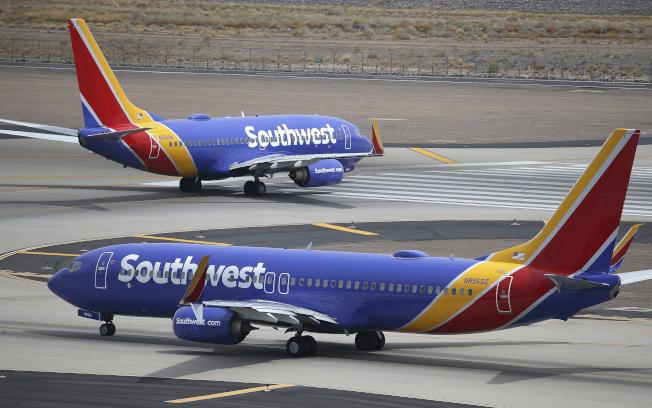 西南航空的空服員工會表示,已經至少有600名員工感染新冠病毒。(美聯社)