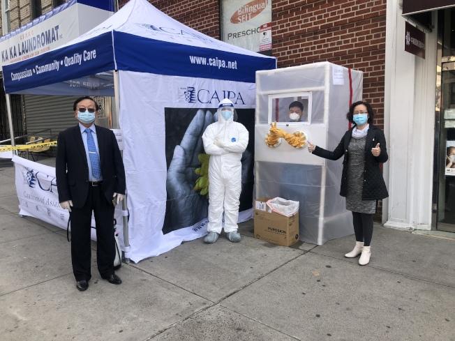 亚美医师协会在布碌仑首次设立流动检验中心,暂时只接受由家庭医生推介的病人检测。(亚美医师协会提供)