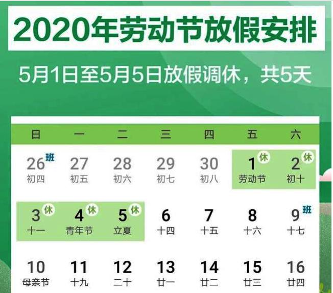中國公布今年「五一」連休5天,是10年來最長的五一假期。(取材自北京日報)
