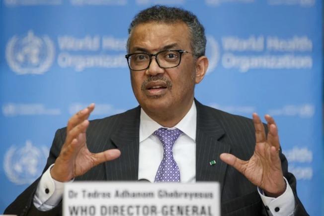 圖為世界衛生組織祕書長譚德塞。 歐新社