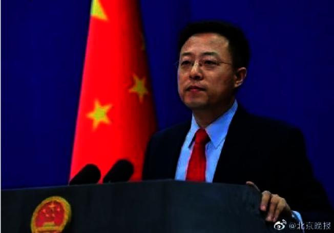 中國外交部發言人趙立堅。(北京晚報微博照片)
