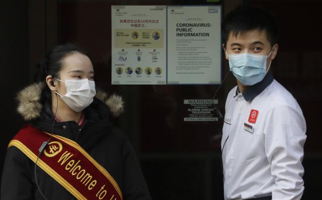 新冠肺炎導致分布世界各地的亞裔遭受歧視。圖為倫敦唐人街附近的中餐館。美聯社