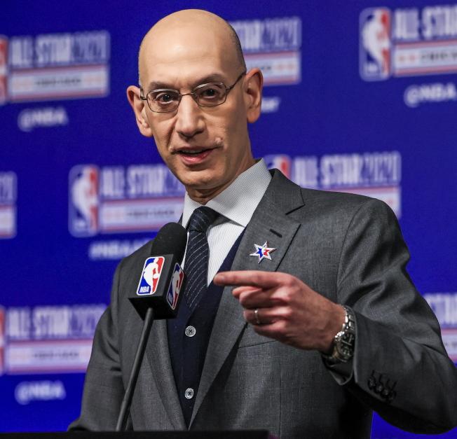 NBA理事長席佛正在努力解決眼前難題。(歐新社)