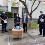中華醫學中心 贈阿市警局口罩