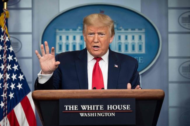 美國媒體指出,美國情報部門去年11月就討論中國大陸疫情。圖為美國總統川普。(Getty Images)