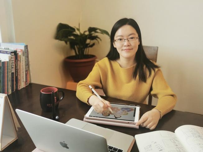 吳卉婷在七天之內完成繪本插畫創作、設計及排版。(吳卉婷提供)
