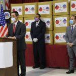 台灣贈德州 10萬片醫療口罩