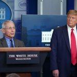 川普否認「開除佛奇」 總統、專家全場零互動