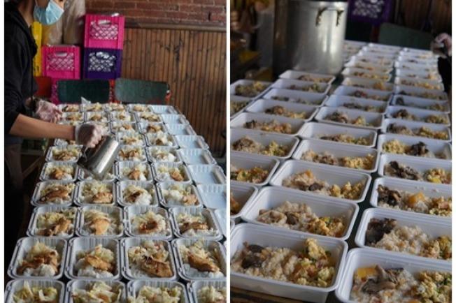 兩人製作健康營養的餐點,送給華埠社區的耆老。(取自gofundme網站)
